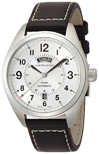 Hamilton Herren Analog Automatik Uhr mit Leder Armband H70505753