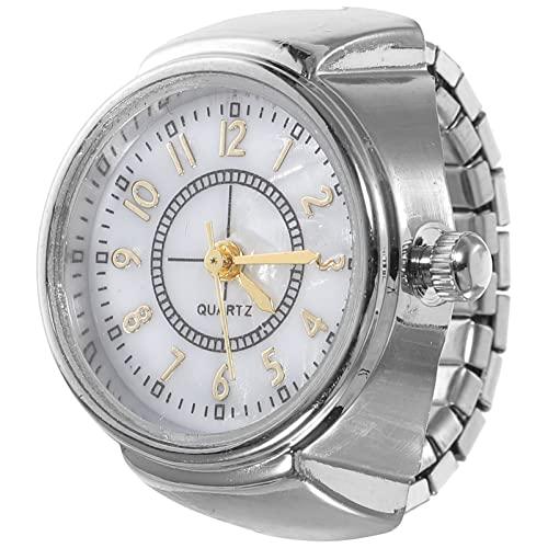 NICERIO Quarz Fingerring Uhr Kreative Schmuck Ringuhr