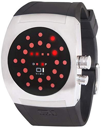 The ONE Unisex Binär Quarz Uhr mit Gummi Armband SW102R3