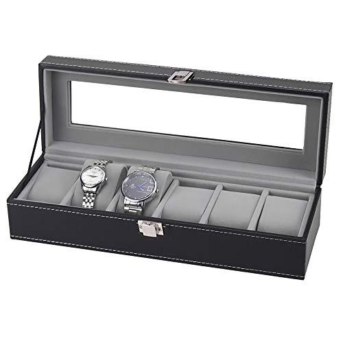 Homeanda Uhren-Organizer, Uhren-Box, Kunstleder-Uhrenvitrine