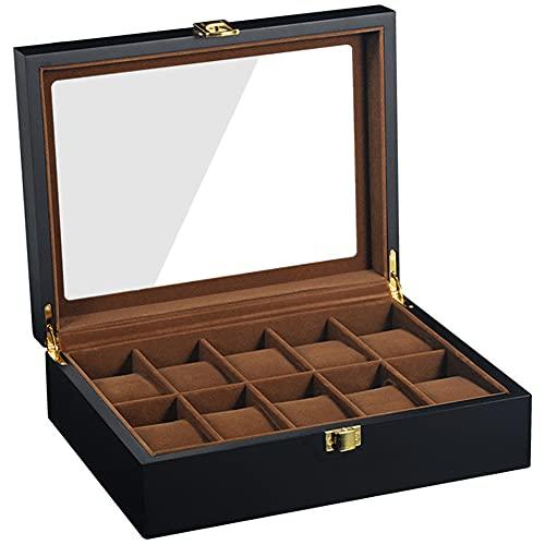 DoubleBlack Uhrenbox for 10 Uhren Uhrenkasten Holz