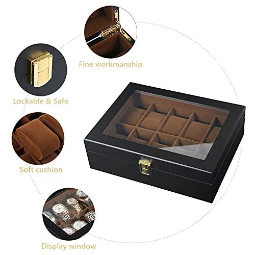 DoubleBlack Uhrenbox for 10 Uhren Uhrenkasten Holz - 3