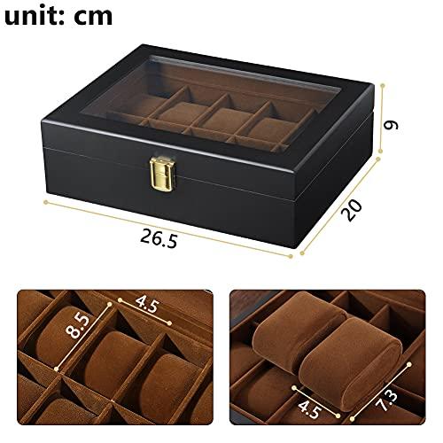 DoubleBlack Uhrenbox for 10 Uhren Uhrenkasten Holz - 5