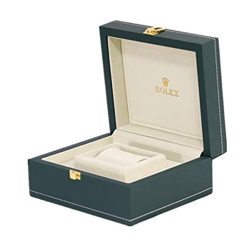ROUHO PU Lederbox Grün Uhr Verpackung Uhr Box Uhr Anzeigebox Für Rolex