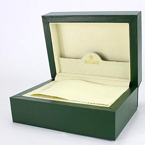 ROUHO Grüne Lange Samt Plüsch Uhrbox High-End Flip Holz Uhr Schrank Etui Für Rolex