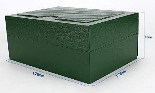 ROUHO Grüne Lange Samt Plüsch Uhrbox High-End Flip Holz Uhr Schrank Etui Für Rolex - 5