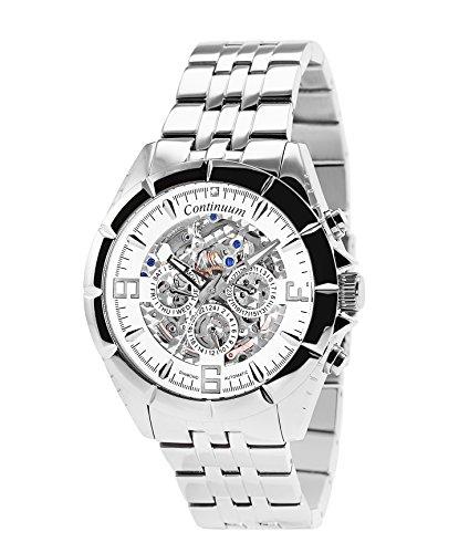 Continuum Uhr Automatikuhr Armbanduhr mit echten Diamanten Skelettuhr