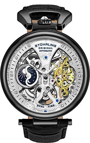 Stührling Original Herren Skelett Uhr Zifferblatt Automatik Uhr