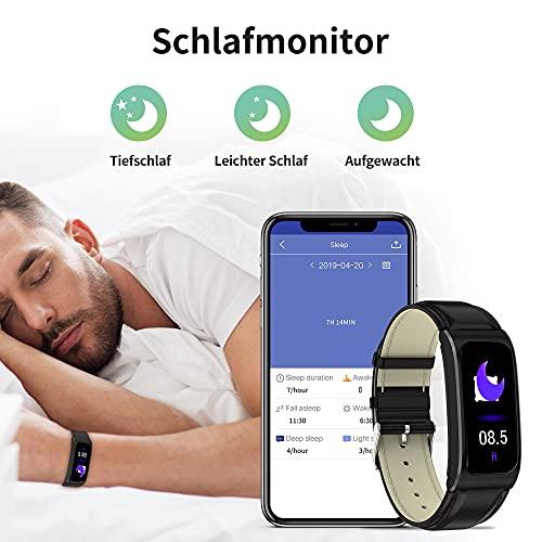 Fitnessuhr Fitness Armband Schrittzähler Pulsuhr Sportuhr Damen Herren Android Smartwatch IOS Tracker Pulsuhren Pulsmesser Watch Uhr mit Blutdruckmessung IP68 Wasserdicht - 6