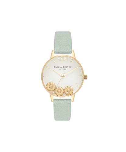 Olivia Burton Damen Analog Japanisch Quarz Uhr mit Echtes Leder Armband OB16CH17